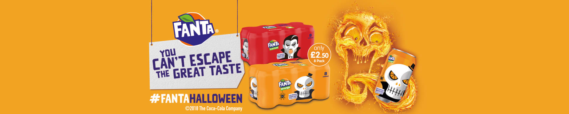 Save on Fanta for Halloween at B&M.