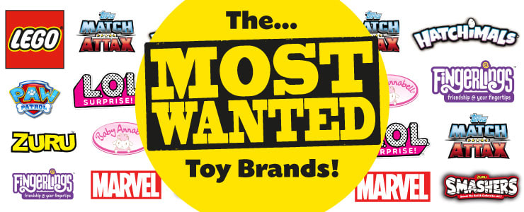 Most wanted toy brands at B&M.