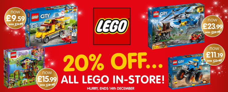 20% OFF LEGO at B&M.
