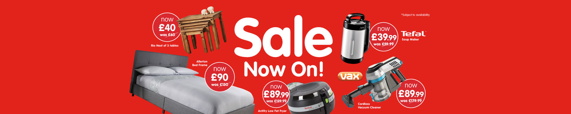 Sale now on at B&M.
