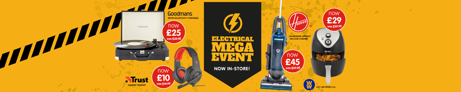 Save in the Electrical Mega Event at B&M.