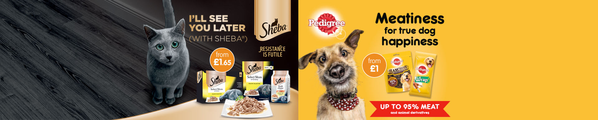 Save on Sheba and Pedigree at B&M.