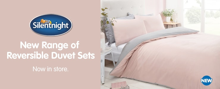 New Silentnight Reversible Bedding in store at B&M.