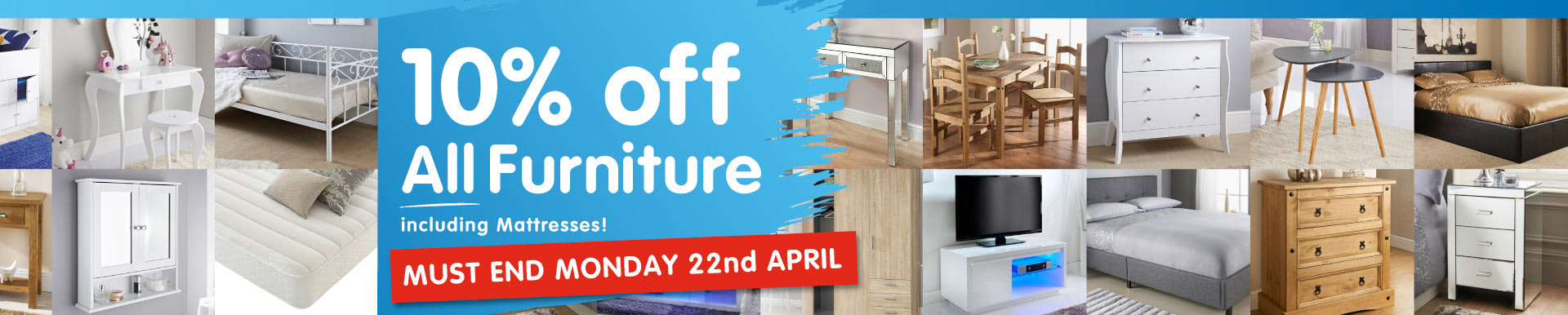 10% off Furniture Event at B&M.