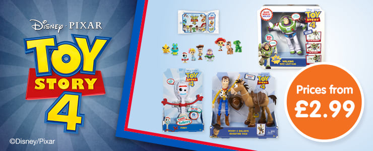 Save on Toy Story 4 toys at B&M.