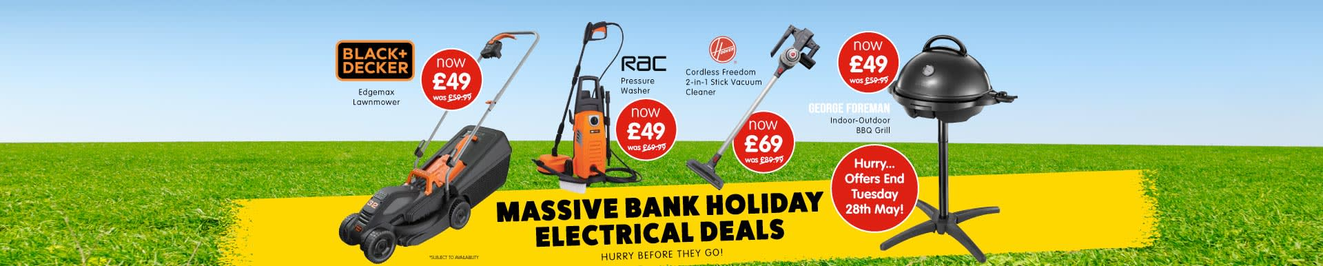 B&M Bank Holiday Electrical Deals.