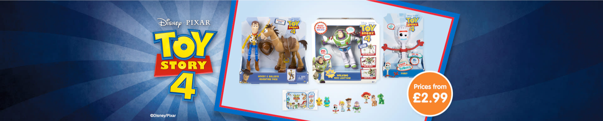 Toy Story 4 Toys now in store at B&M.