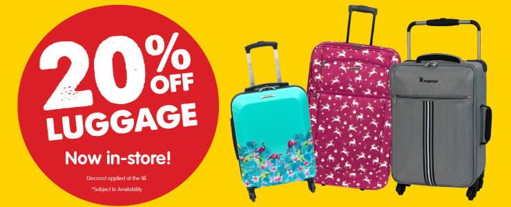 df04edb6f Save ££s on Cheap Suitcases, Luggage and Cabin Bags at B&M