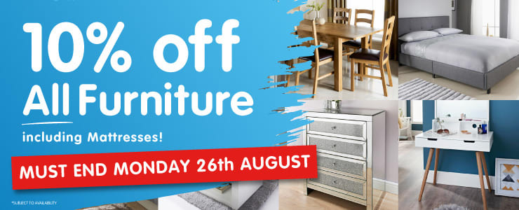 20% off All Furniture at B&M.