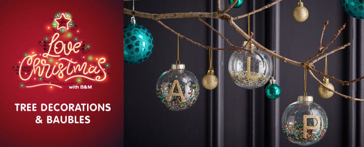 Save on Christmas Baubles at B&M.