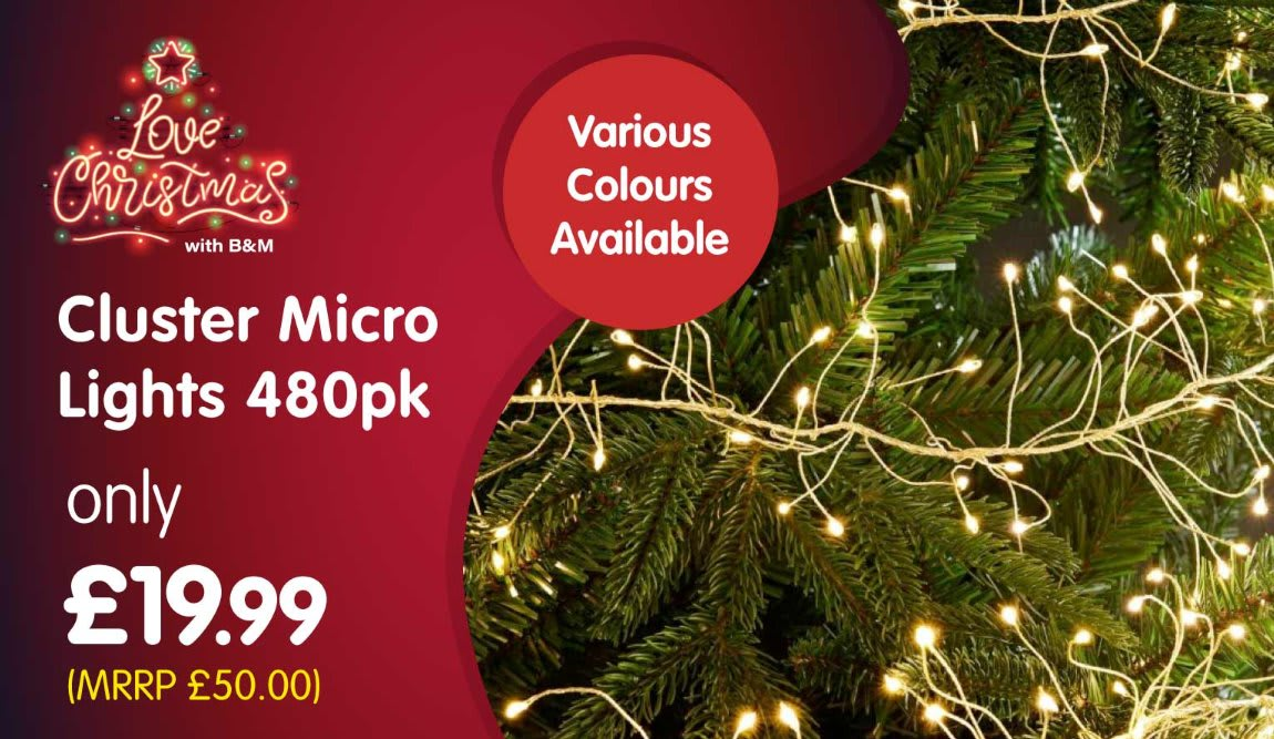 Save on Christmas Lights at B&M.