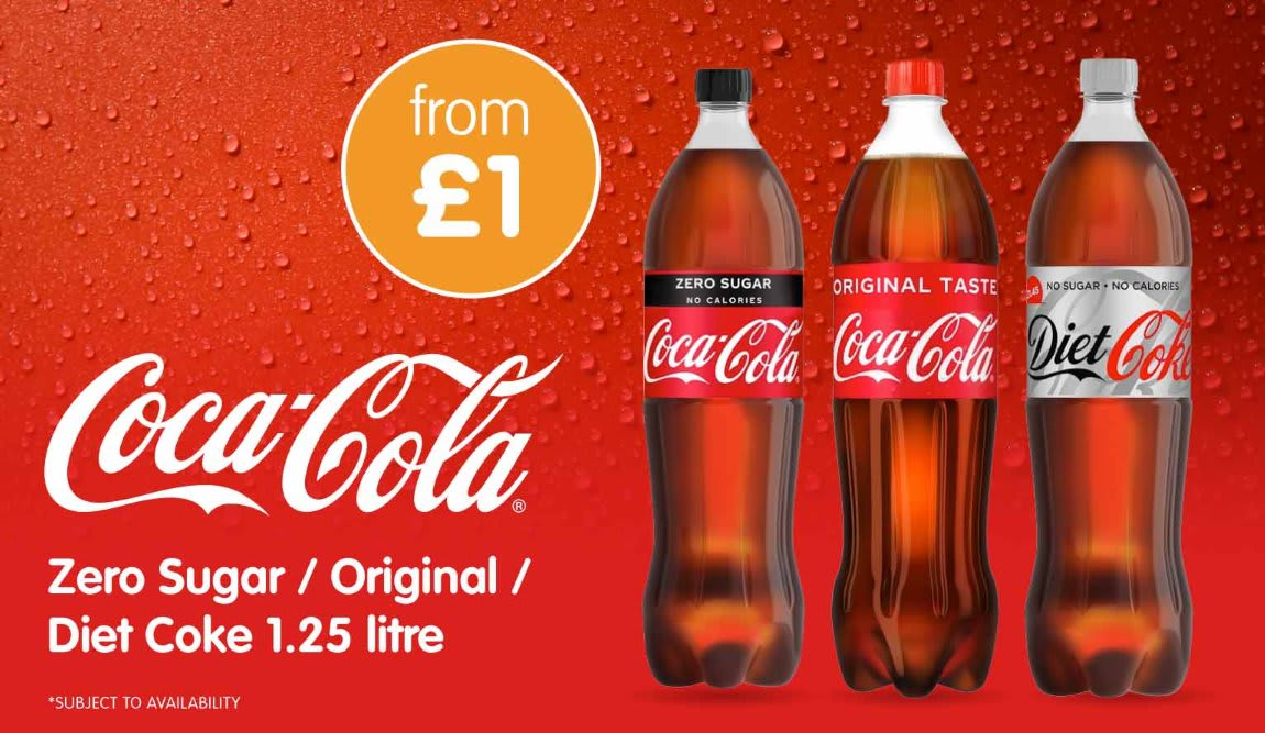 Save on Coca Cola 1.25Ltr at B&M.