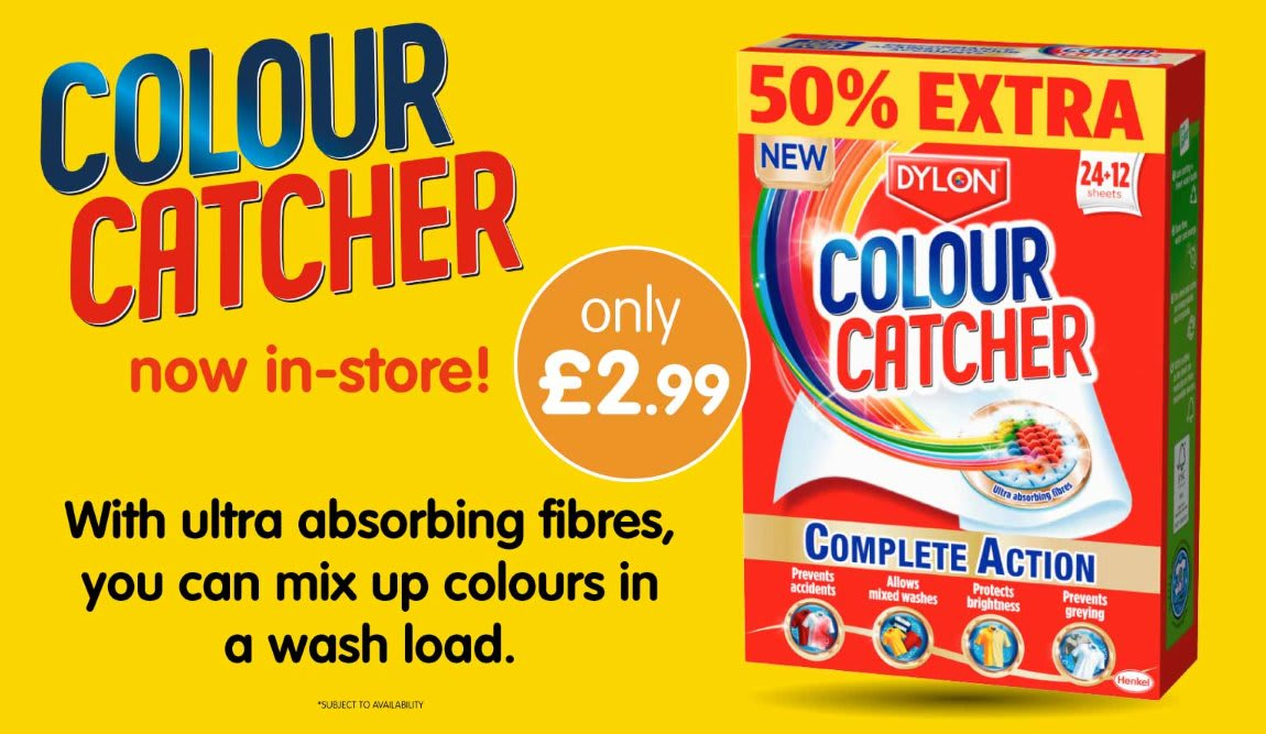 Save on Colour Catcher at B&M.