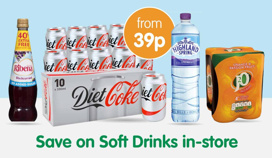 Save on Soft Drinks at B&M.