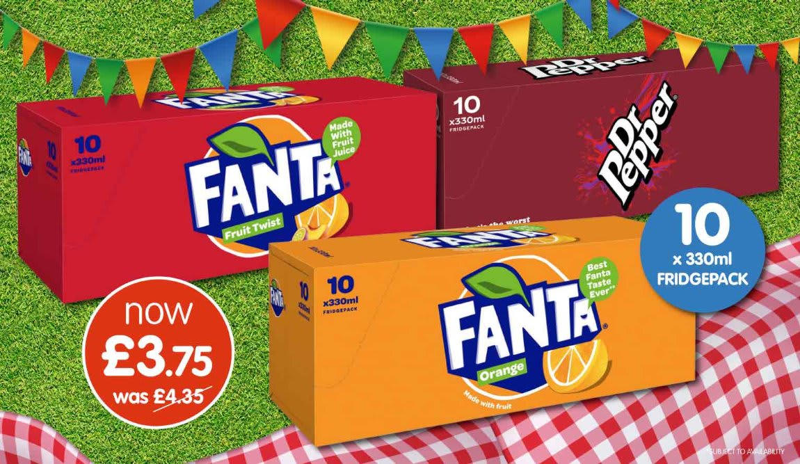 Fanta and Dr Pepper Deals at B&M.