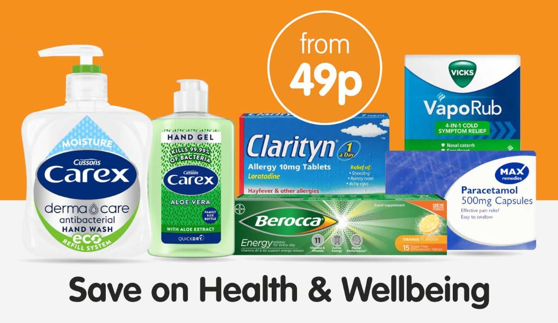 Save on Health & Wellbeing at B&M.