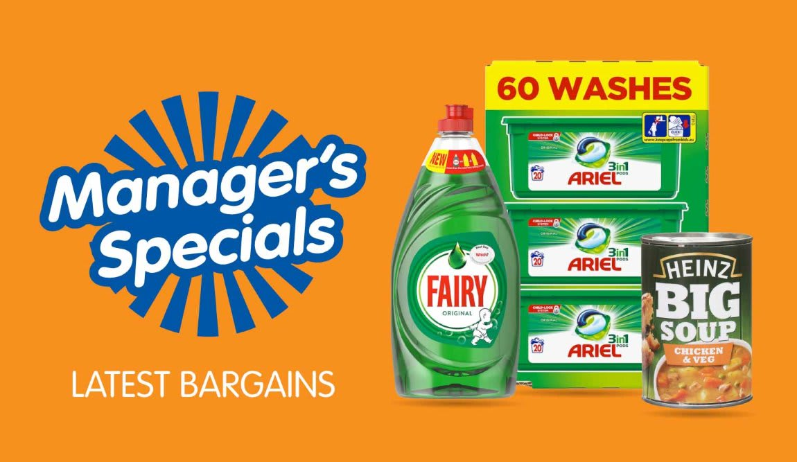 Latest Manager's Specials at B&M.