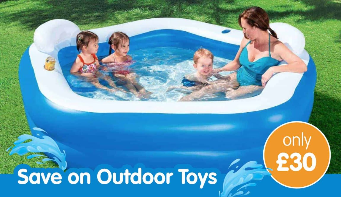 Save on outdoor toys at B&M.