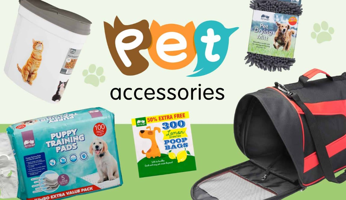Save on Pet Accessories at B&M.