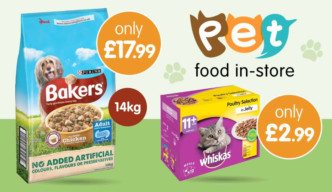 Save on Pet Food at B&M.