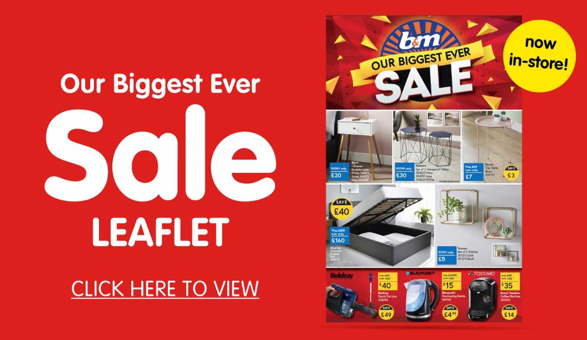 B&M Stores Jan 2020 sale leaflet