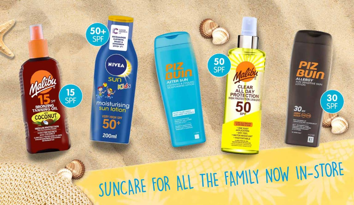 Save on Suncream at B&M.