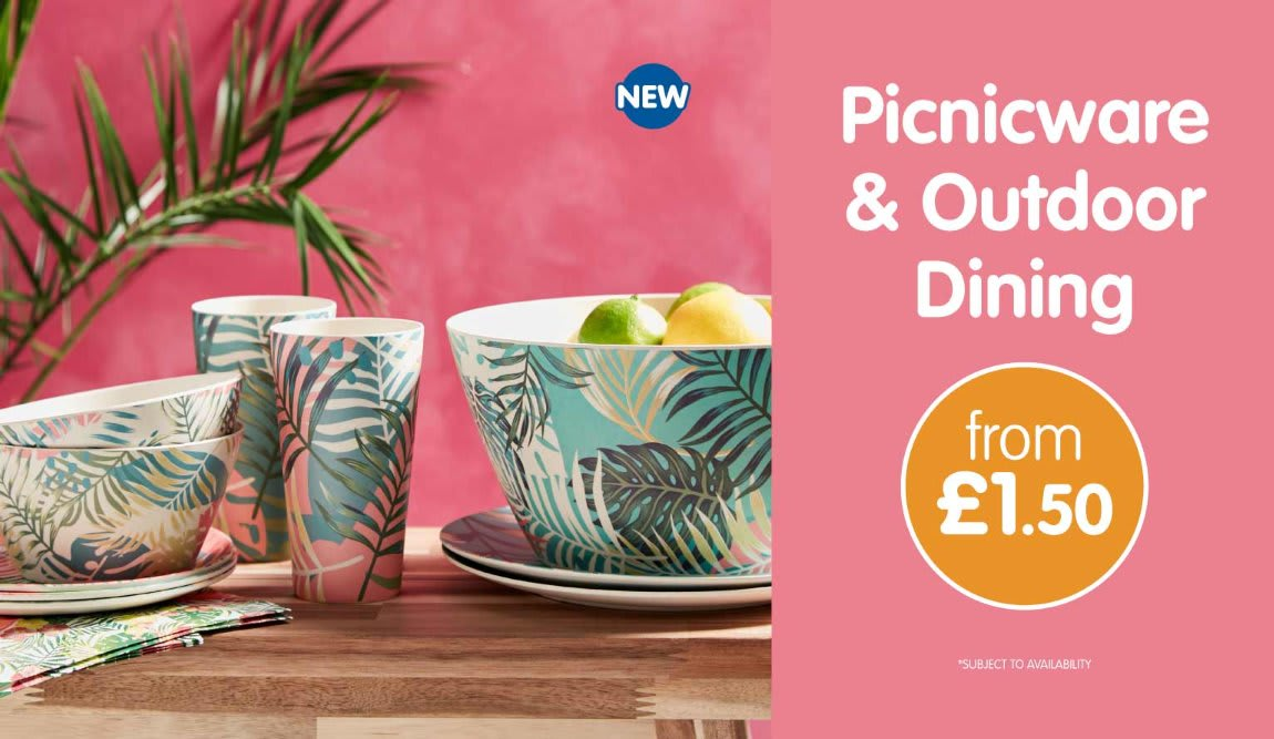 Tropical Picnic range in store at B&M.