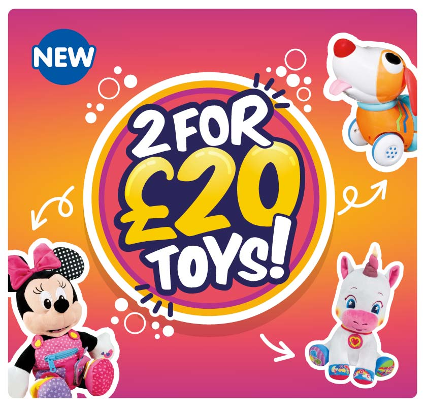 2 for £20 Toys at B&M.