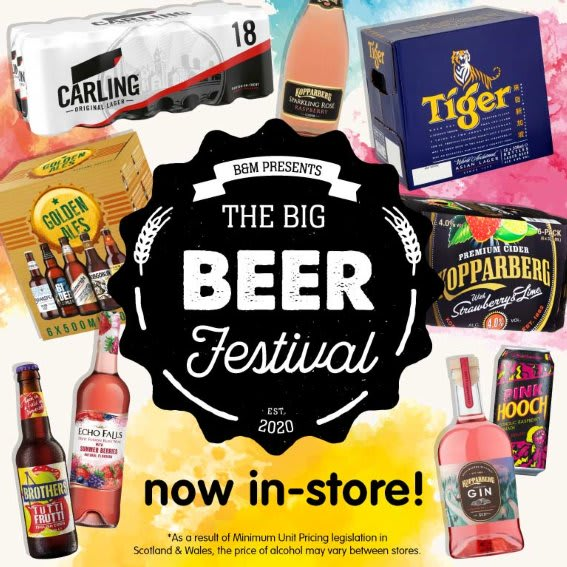 Beer Festival in store at B&M.
