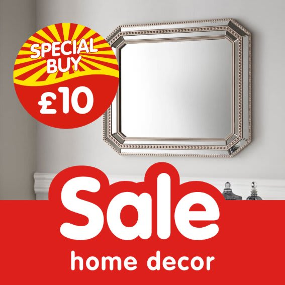 Home Decor Sale at B&M.