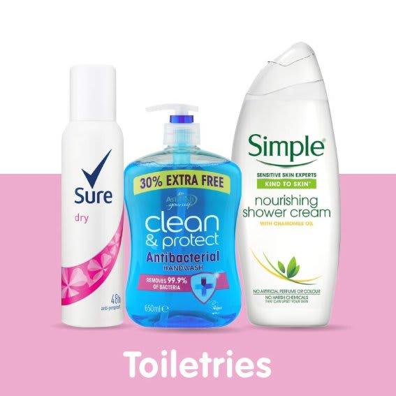 Save on Toiletries at B&M.